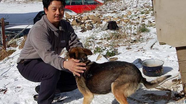 Tran Dinh Dung z Přimdy (na snímku) popírá, že by choval psy na maso. Nařčení se bude bránit třeba až u soudu.