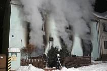 Požár rodinného domu ve Svojšíně