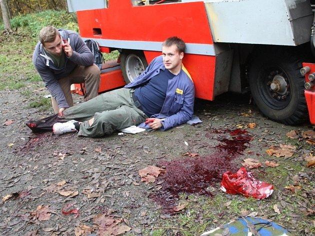 Cvičení záchranářů v Tachově.