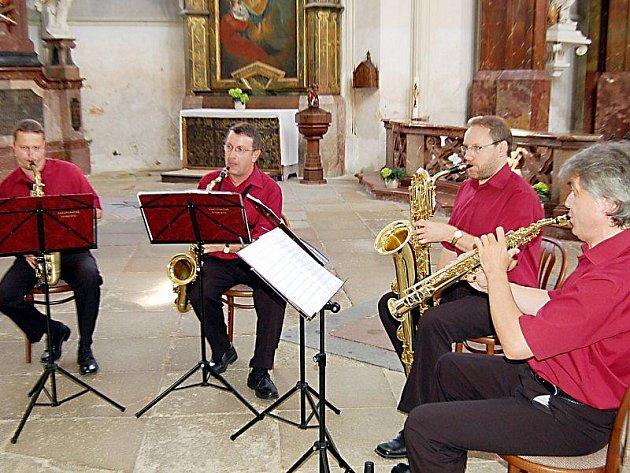 České saxofonové kvarteto v Kladrubech.