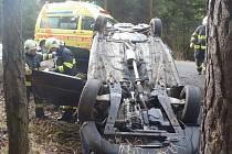 Nehoda u Malovic si vyžádala dvě zranění.