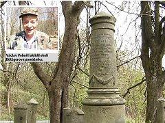 U Böttgerova památníku bylo deset pytlů odpadu. Nyní je tam čisto.
