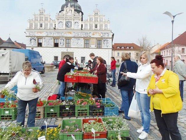 Farmářské trhy se letos poprvé uskutečnily na veřejném prostranství na stříbrském náměstí.