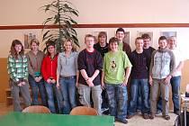 Žáci deváté třídy ZŠ Kladruby