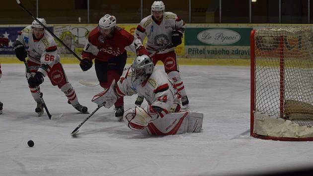 Krajská liga: HC Tachov (bílí) vs. HC Klatovy B 2:6.