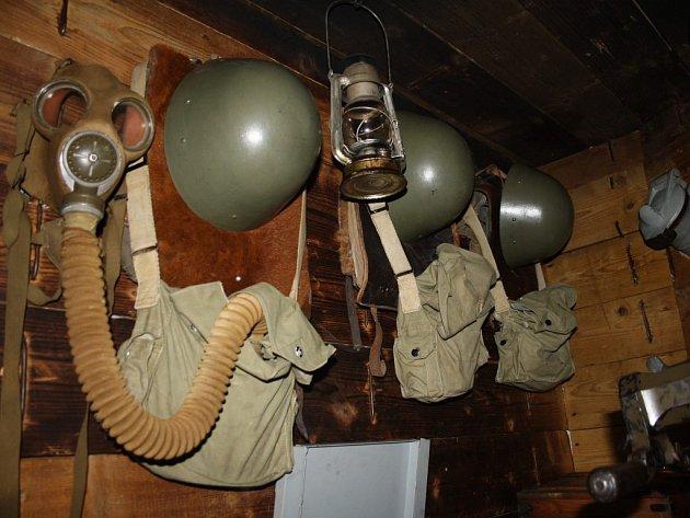 Interiér kladrubského bunkru.
