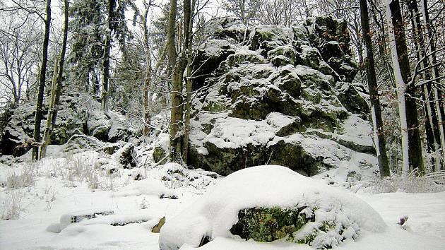 Krajina kolem Žďárů na Českém lese.