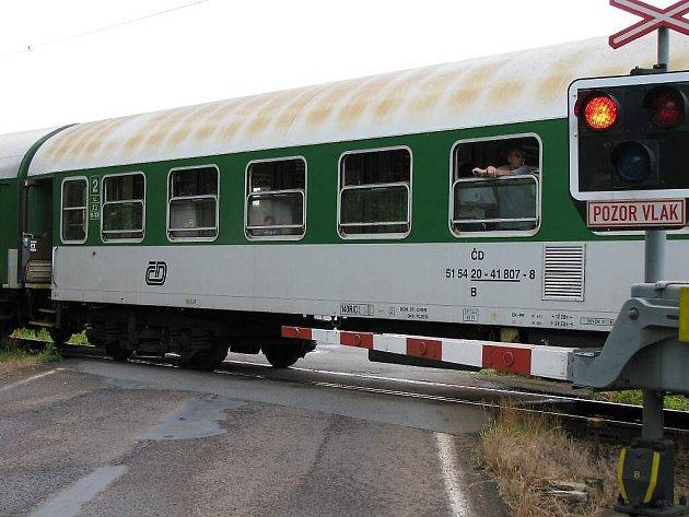 Pád větví na sběrač lokomotivy způsobil zastavení vlaku.