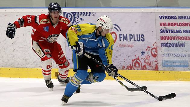 Hokejisté hrají v Plzni proti Kaznějovu.