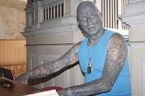 Vladimír Franz zahrál návštěvníkům vernisáže v kostele v Plané na varhany.