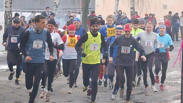 Silvestrovský běh ve Stříbře
