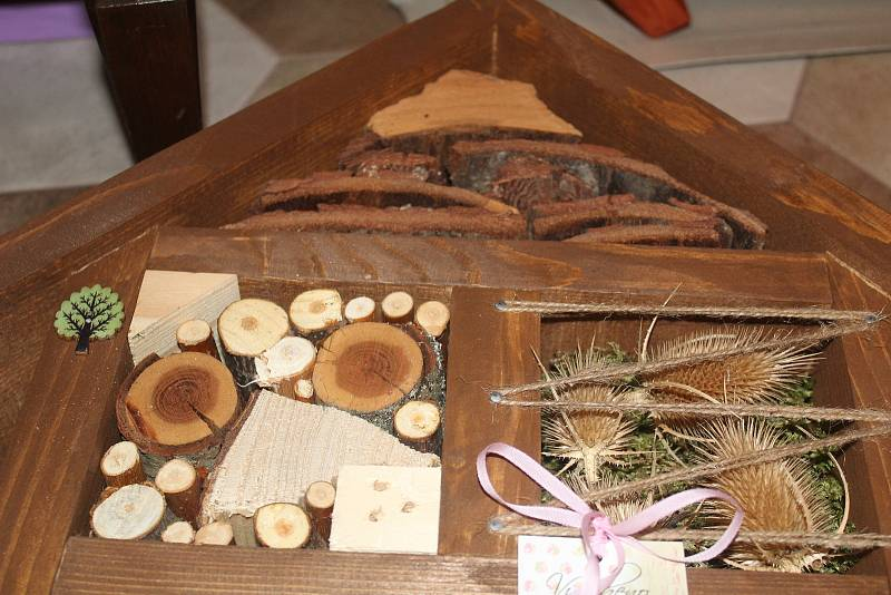 Líza Honomichlová se věnuje mnoha činnostem, ale nejvíce propadla výrobě tzv. hmyzích hotelů.