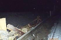 Nehoda kaminu na D5 u Boru.