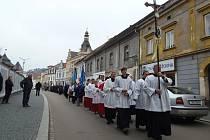 Kopie svatého obrazu Panny Marie Bolestné opět putovala Stříbrem.