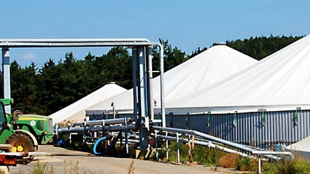 Bioplynová stanice ve Svojšíně.