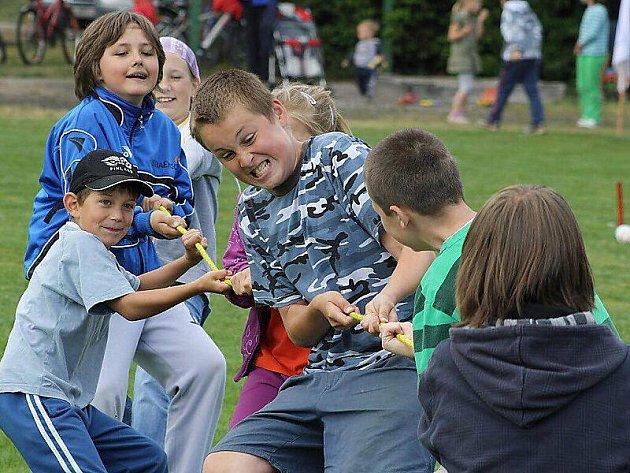 Děti se radovaly při soutěžích