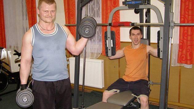 Nejvíce cebivské posilovny vužívají Roman Tuka a Pavel Mareš.