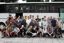 Hudebníci z Dechového orchestru mladých Tachov odcestovali v pátek odpoledne do Chorvatska