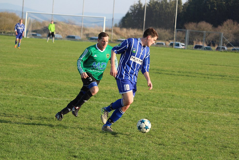 Sokol Kostelec (modré dresy) - Baník Stříbro B 5:0 (1:0)
