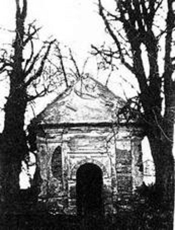 Původní kaple na dochované fotografii.
