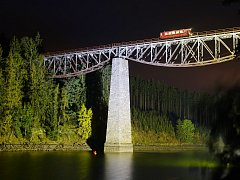 V sobotu bude jedna z posledních možností vidět Pňovanský most před rozsáhlou rekonstrukcí. Přes stavbu projede i historický vlak.