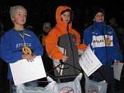 Večerní běh Tachovem. Vítězové v kategorii nejmladších žáků.