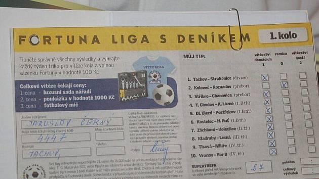 Restaurace Ve Skále v Chodové Plané hostila nejlepší tipéry Fortuna ligy Tachovského deníku.