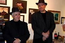AUTOŘI Jan Rybecký a Jan Picka uvedli výstavu.