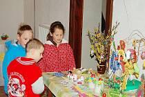 BORSKÉ DĚTI VYRÁBĚLY nejrůznější velikonoční ozdobné předměty na akci nazvané Velikonoční machrovinky.