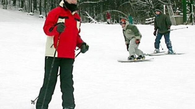 Také na Tachovsku se děti konečně dočkaly sněhové nadílky.