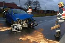 Nehoda u Bezděkova.