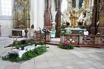 V prostorách klášterního kostela Nanebevzetí Panny Marie v Kladrubech se konala Svatohubertská mše.