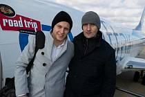 Pavel Kahún (vpravo) se svým synem Dominikem, nyní Kahunem, hokejistou Edmontonu a hokejovým reprezentantem Německa.