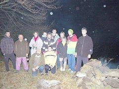 Účastníci Keltského telegrafu na Vlčí hoře.