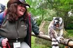 Petra Zoubková s lemurem