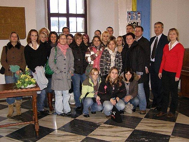 Na stříbrské radnici byli žáci z německého Weidenu.