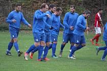 Na úvod poháru PKFS nastoupí Dynamo Studánka (v modrém) proti Baníku Stříbro.
