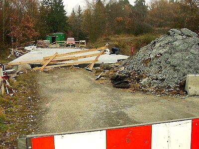 Práce na rekonstrukci mostu u Stříbra.