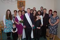 Manželé Františka a Mirek Barešovi ze Starého Sedliště oslavili půlstoletí společného soužití.