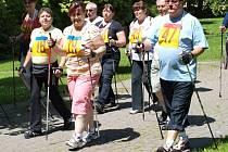 Nordic walking v Konstantinových Lázních přilákal desítky lidí