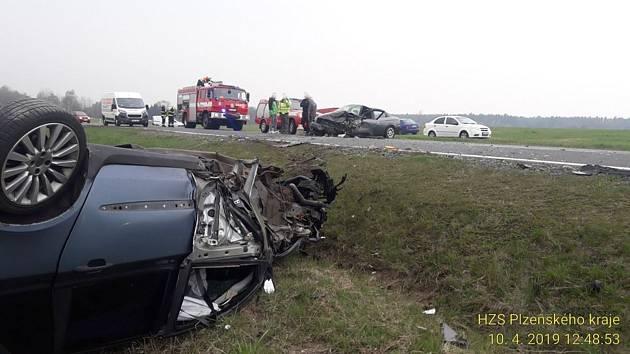 Nehoda mezi Tisovou a Novou Hospodou.