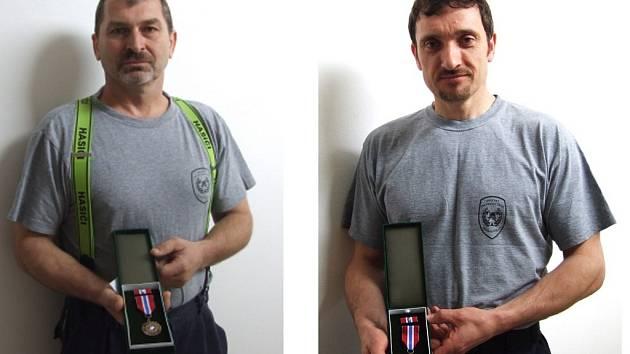 Ocenění hasiči: Stanislav Kos a Jiří Kratochvíl