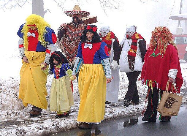 Jaga klub a obec Broumov pořádaly v sobotu masopustní veselí.