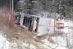 Kamionář havaroval nedaleko hraničního přechodu Rozvadov na 148. kilometru dálnice D5.