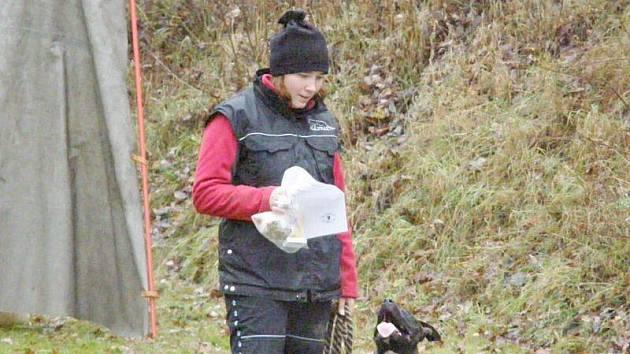 Na podzimním závodě v Domažlicích byla i fenka Banny ze Stříbra.