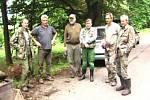 První úklid lesa uspořádali tachovští hledači v roce 2008 v zaniklé obci Slatina.