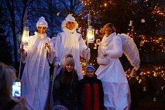 Rozsvícení vánočního stromu v Bezdružicích
