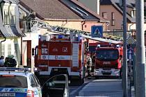Požár domu v Pivovarské ulici v Tachově.
