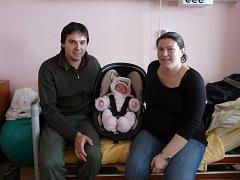 Gabriela (4,36 kg, 53 cm) přišla na svět 20. února v 5:23 v plzeňské fakultní nemocnici. Z narození své prvorozené dcery se radují rodiče Gabriela a Pavel Nečasovi z Broumova.