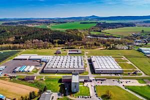 Letecký pohled na Industrial Park Tachov.